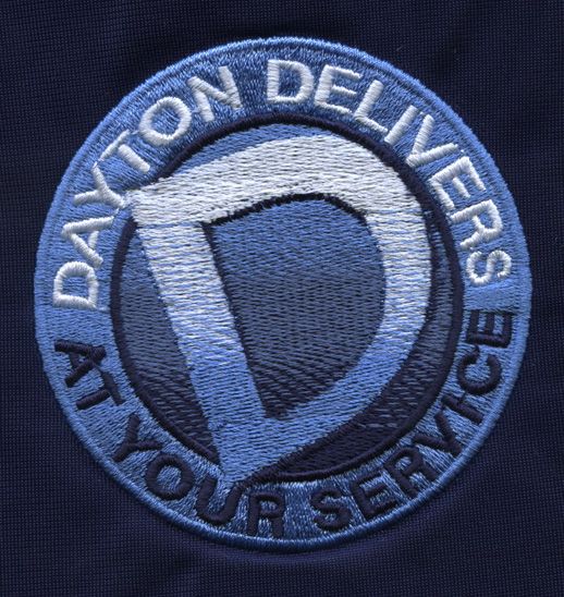 Dayton Delivers embroidered design